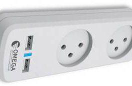 מפצל חשמל 2 + 2 אופציות טעינת usb